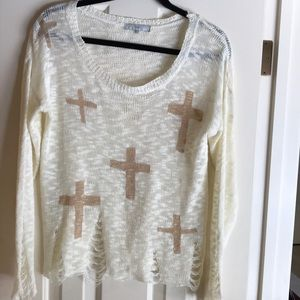 Fate Knit Sweater with Crosses